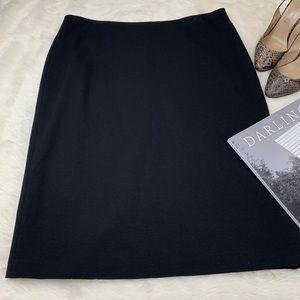 LAFAYETTE 148 New York Classic Stretch Black Skirt